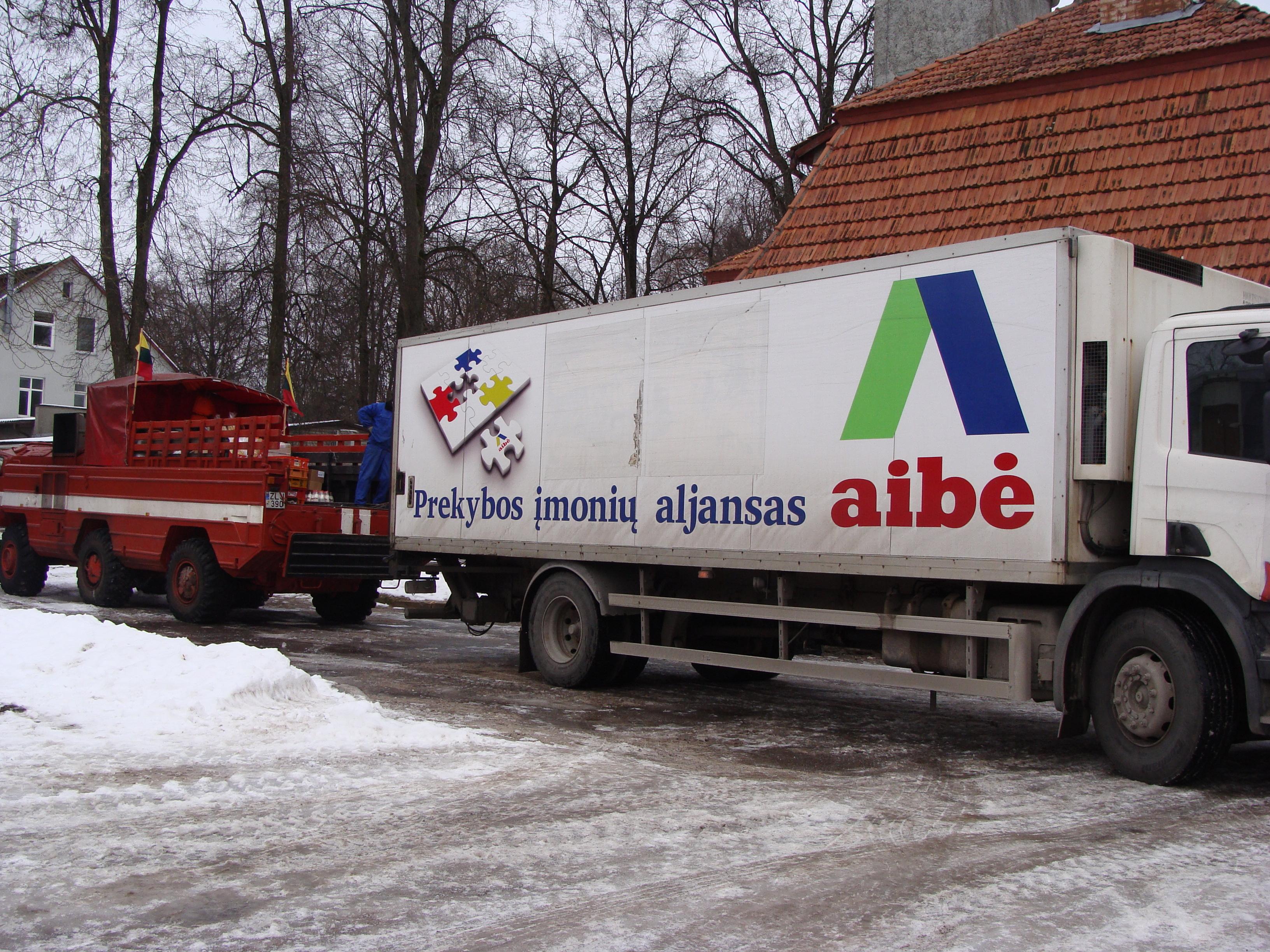 Prekių tiekimas į Rusnę